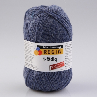 Regia 4-fädig Uni Sockenwolle 2137 jeans meliert