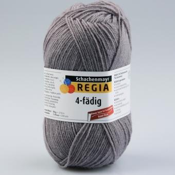 Regia 4-fädig Uni Sockenwolle 2929 grau