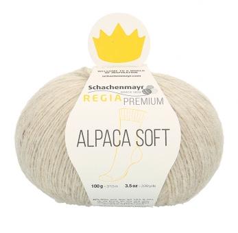 Regia Premium Alpaca Soft Sockenwolle 02 natur meliert