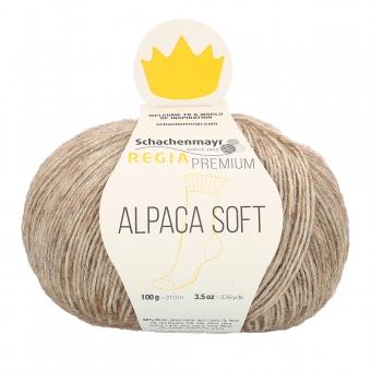 Regia Premium Alpaca Soft Sockenwolle 20 camel meliert
