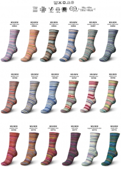 Regia 100g-Knäuel 4-fädig Design Line Color Sockenwolle