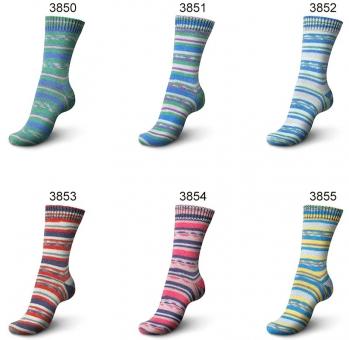 Regia Garden City Color 4-fädig 100g Sockenwolle