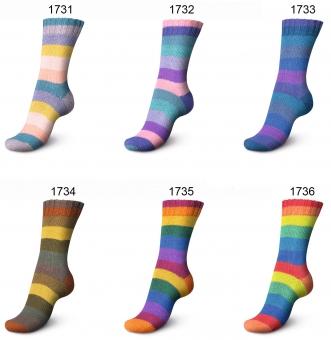 Regia 100g 4-fädig Pairfect Rainbow Color