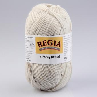 Regia Tweed Sockenwolle 4-fädig 02 natur tweed