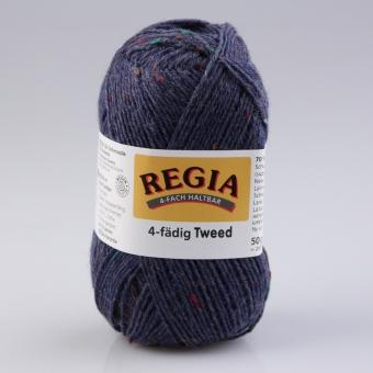 Regia Tweed Sockenwolle 4-fädig 52 jeans tweed