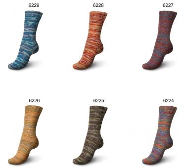 Regia Vibrant Color 150g 6-fädig Sockenwolle