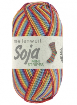 Meilenweit 100 Soja Mini Stripes Lana Grossa Sockenwolle