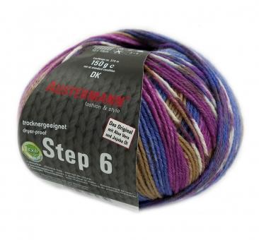 Step 150g 6-fädig Irish Color Sockenwolle Austermann