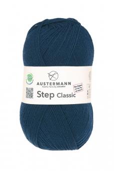 Step Classic 4-fädig 100g Sockenwolle Austermann 1010 nachtblau