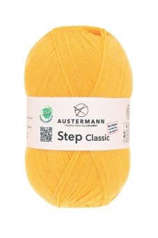 Step Classic 4-fädig 100g Sockenwolle Austermann 1014 gelb