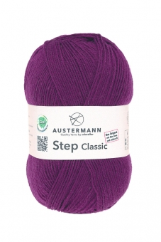 Step Classic 4-fädig 100g Sockenwolle Austermann 1021 brombeer