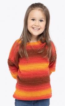 Strickset Kinder-Pullover Step Merino Color