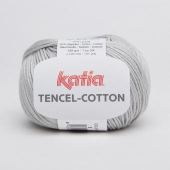 Tencel Cotton Wolle von Katia 08 Perlhellgrau