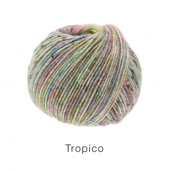 Tropico Lana Grossa 01 Pistazie/Lindgrün/Terracotta/Khaki/Zyklam/Lila/Rosa/Gelb