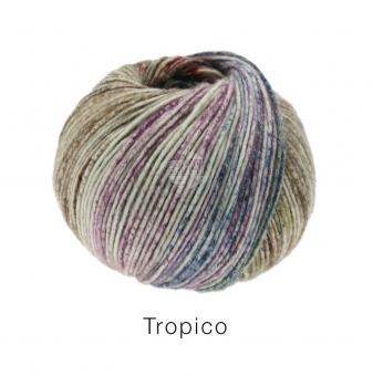 Tropico Lana Grossa 04 Taubenblau/Lavendel/Graugrün/Dunkeljeans/Smaragd/Hellgrün/Rotbraun