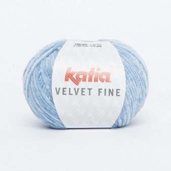 Velvet Fine von Katia 205 Hellhimmelblau