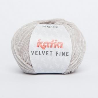Velvet Fine Wolle von Katia 208 Hellgrau