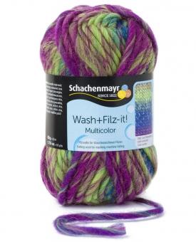 Wash+Filz-it! Multicolor Filzwolle Schachenmayr 00224 karibik color