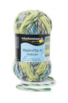 Wash+Filz-it! Multicolor Filzwolle Schachenmayr 00253 pastell-gelb color
