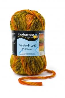 Wash+Filz-it! Multicolor Filzwolle Schachenmayr 00255 curry color