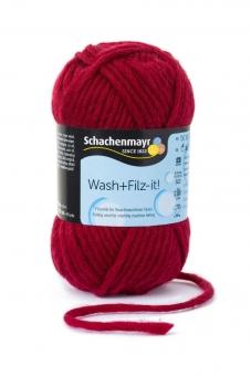 Wash+Filz-it! Filzwolle Schachenmayr 00006 ruby
