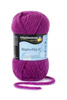 Wash+Filz-it! Filzwolle Schachenmayr 00026 pflaume