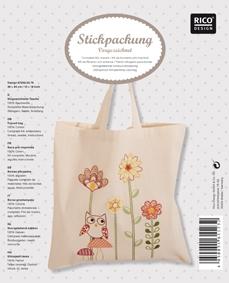 Vorgezeichnete Tasche Eule mit Pilzen
