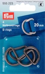 Halbrundringe 20mm 555223 altsilber