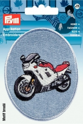 Applikation Patch Jeans Motorrad