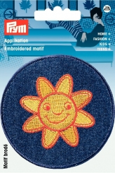 Applikation Patch Jeans Sonne