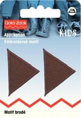Applikation Dreiecke braun
