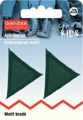Applikation Dreiecke dunkelgrün
