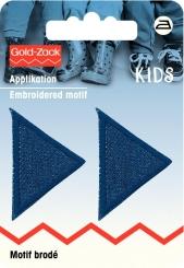 Applikation Dreiecke Jeans dunkel