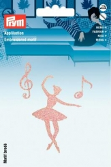 Applikation Ballett rosa