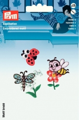 Applikation Biene/Schmetterling/Marienkäfer