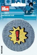 Applikation Patch blau rund mit Stern