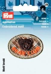 Applikation Patch Bärenkopf braun