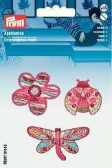 Applikation  Blume/Schmetterling/Marienkäfer