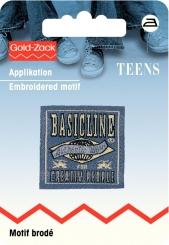 Applikation Jeanslabel Basicline
