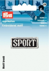 Applikation Label Sport grau