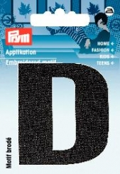 Applikation Buchstabe D