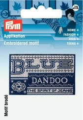 Applikation Label BLUE DANDOO
