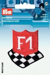 Applikation F1 schwarz/rot/weiß