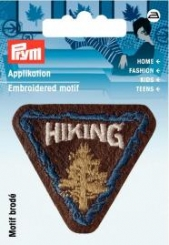 Applikation Patch HIKING braun
