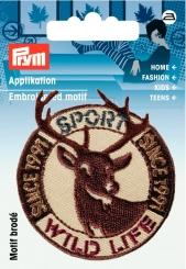 Applikation Patch Wild Life Hirsch braun