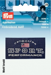 Applikation Label SPORT PERFORMANCE