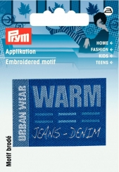 Applikation Label URBAN WEAR WARM