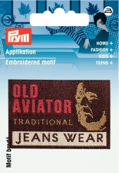 Applikation Label OLD AVIATOR