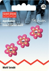 Applikation Blume klein pink