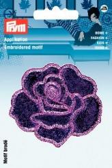 Applikation Rose violett